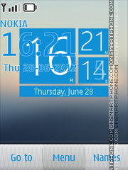 Wp7 Style Clock Theme-Screenshot