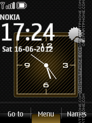 Bright Elegance Clock tema screenshot