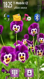 Скриншот темы Purple Flowers 04