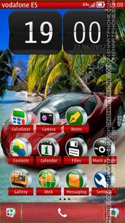 Ferrari 611 theme screenshot