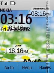 Clock with camomiles theme screenshot
