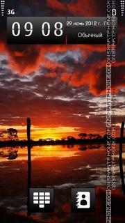 Red Sunset es el tema de pantalla