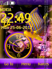 Colorful Fish Clock theme screenshot