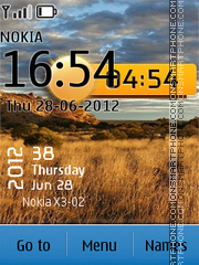 Nature hd clock theme screenshot