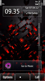 Red Cube 03 tema screenshot