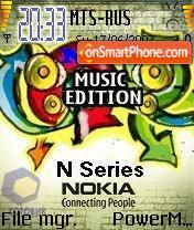 Nokia N Series Music Edition theme screenshot