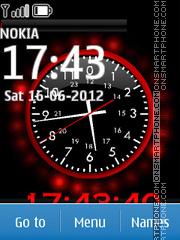 Nokia Dual Clock 06 tema screenshot
