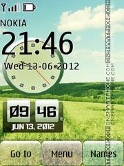 Скриншот темы Iphone Dual Nature Clock hd