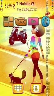 Beach Fun 01 tema screenshot