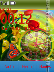 Colorful Clock es el tema de pantalla
