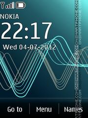 Sound Waves Blue es el tema de pantalla