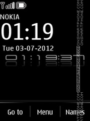 NGblack Clock theme screenshot