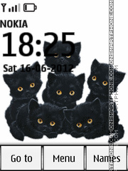 Animated Kitten 02 theme screenshot