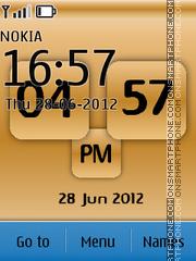 New Style Clock 07 theme screenshot