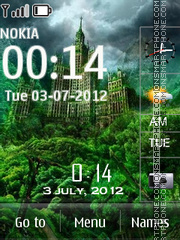 Castle V Clock tema screenshot