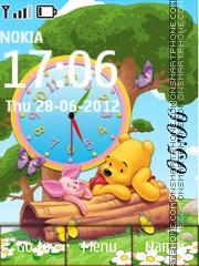 Winnie Pooh Clock theme screenshot