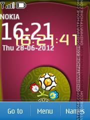 Euro Clock 2012 theme screenshot