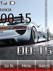 Car Clock 01 tema screenshot