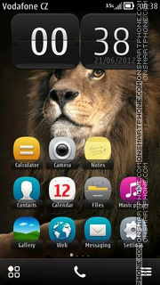 Pretty Lion theme screenshot