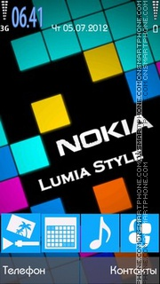 Lumia v2 theme screenshot