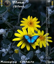 Butterfly and Flower Theme-Screenshot