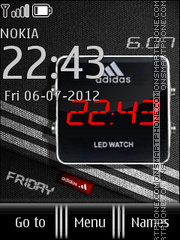Adidas Clock 02 theme screenshot