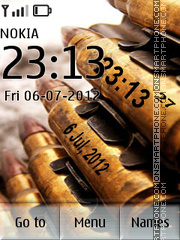 Bullet Clock theme screenshot