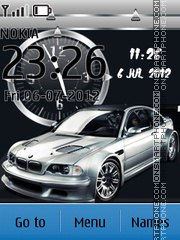 Bmw Car Clock tema screenshot