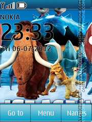 Скриншот темы Ice Age: Continental Drift