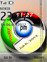 Chrome Digital Clock theme screenshot
