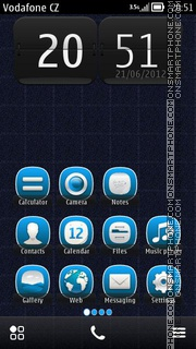 Blue Grid Icons es el tema de pantalla