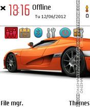 Orange Car 01 theme screenshot