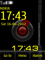 Colorful Clock 01 theme screenshot