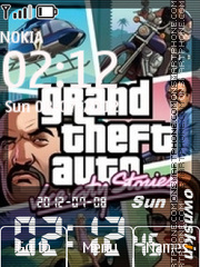 Gta Clock 01 theme screenshot