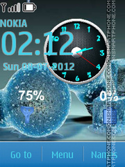 Bulb Clock theme screenshot