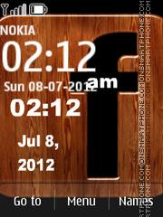 Facebook Clock 02 es el tema de pantalla