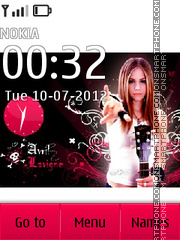 Avril Lavigne theme screenshot