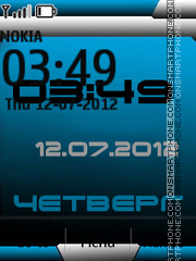 Blue Theme theme screenshot
