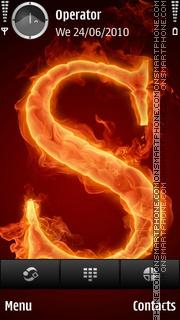 S Flame theme screenshot