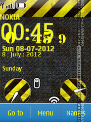 Yellow Clock 02 theme screenshot