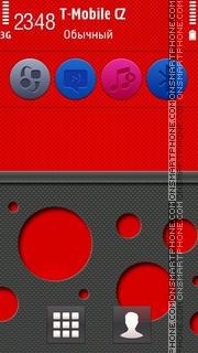 Ncarbon Red 5th theme screenshot