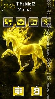 Скриншот темы Golden Horse