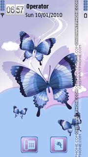 Скриншот темы Butterflies