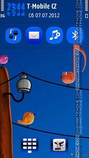 Music Bird theme screenshot