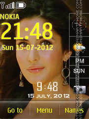 Katrina Clock theme screenshot
