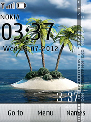 Island Paradise Clock theme screenshot