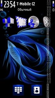 Neon Aquarium 5th. theme screenshot