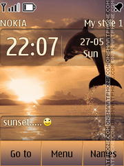 Sunset theme screenshot
