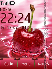 Cherry Drop tema screenshot