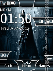 Batman Clock 02 theme screenshot
